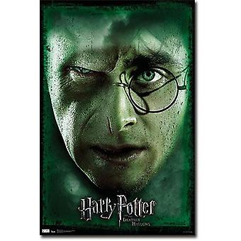 Harry Potter and the Deathly of Hallows 7 poster face of Voldemort & Harry