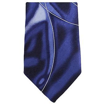 Knightsbridge Neckwear Water Swirl Pattern Tie - Purple/White