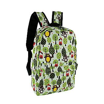 Red Riding Hood süß Wald Print Canvas Rucksack