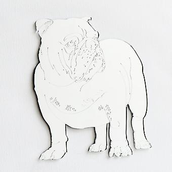 English Bulldog Engraved Acrylic Mirror