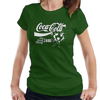 Coca Cola Ball Real Thing White Text Women's T-Shirt