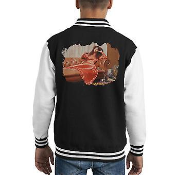TV veces Kate Bush puso chaqueta Varsity de espalda de cabrito