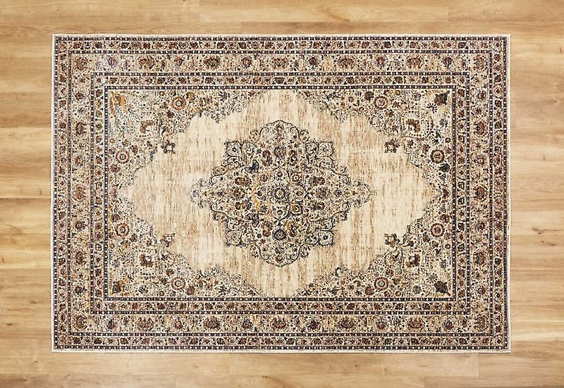 Alhambra 6345 C Ivory Beige  Rectangle Rugs Traditional Rugs