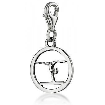 Gymnaste de charme» sur la poutre d'équilibre, «argentée».