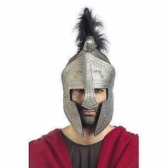 Helm Silber Spezial Ritterhelm Nasenschutz Ritter Kämpfer