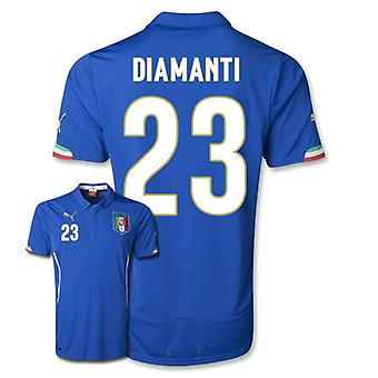 2014-15 Italië World Cup Home Shirt (Diamanti 23)