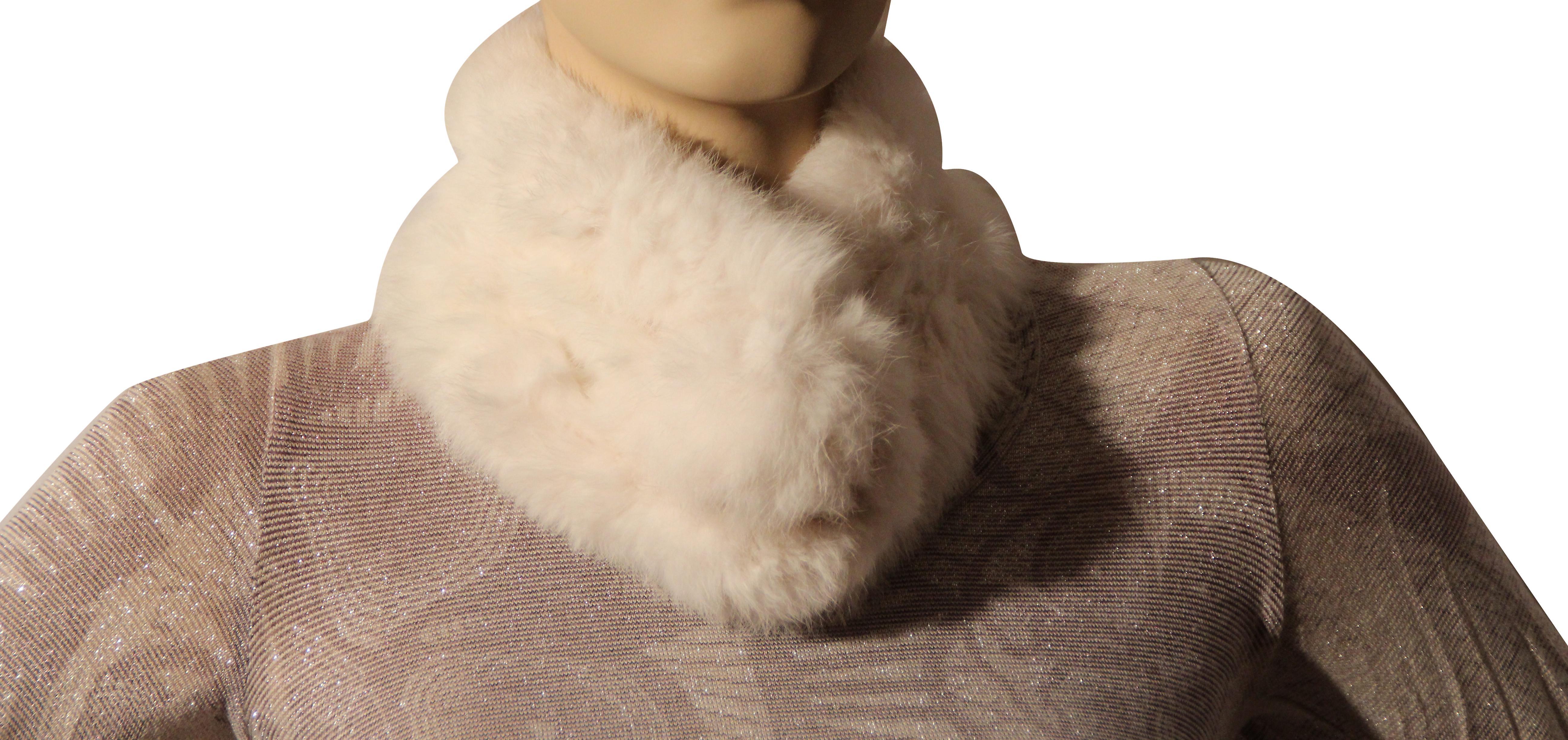 Waooh - Mode - Echarpe en fourrure de lapin rex tricotée
