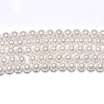 Strand 38+ White South Sea Shell Pearl 10mm Plain Round Beads GS1225-4