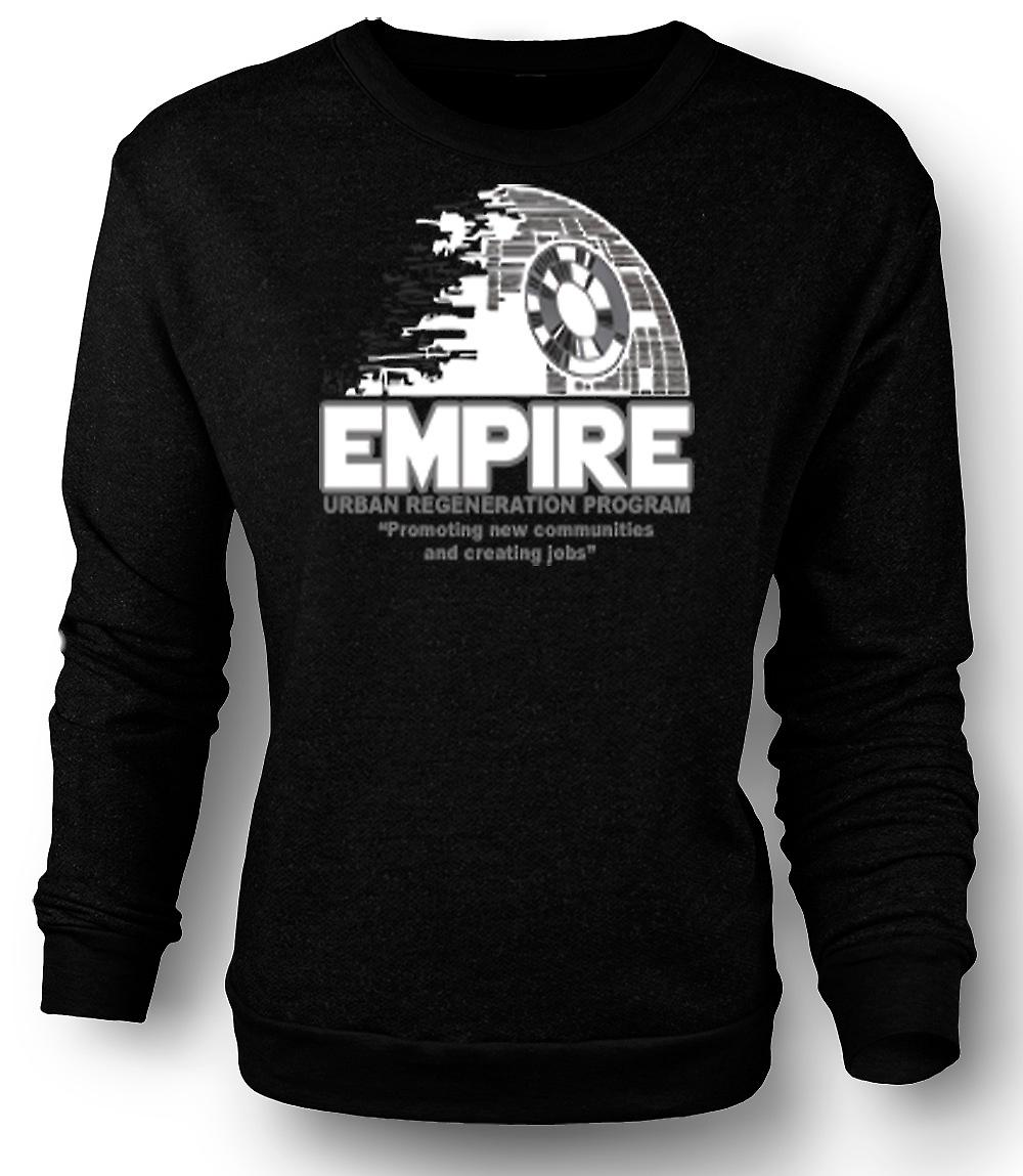 Mens Sweatshirt Empire stadsförnyelse Death Star - Star Wars