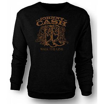 Womens Sweatshirt Johnny Cash - Walk The Line