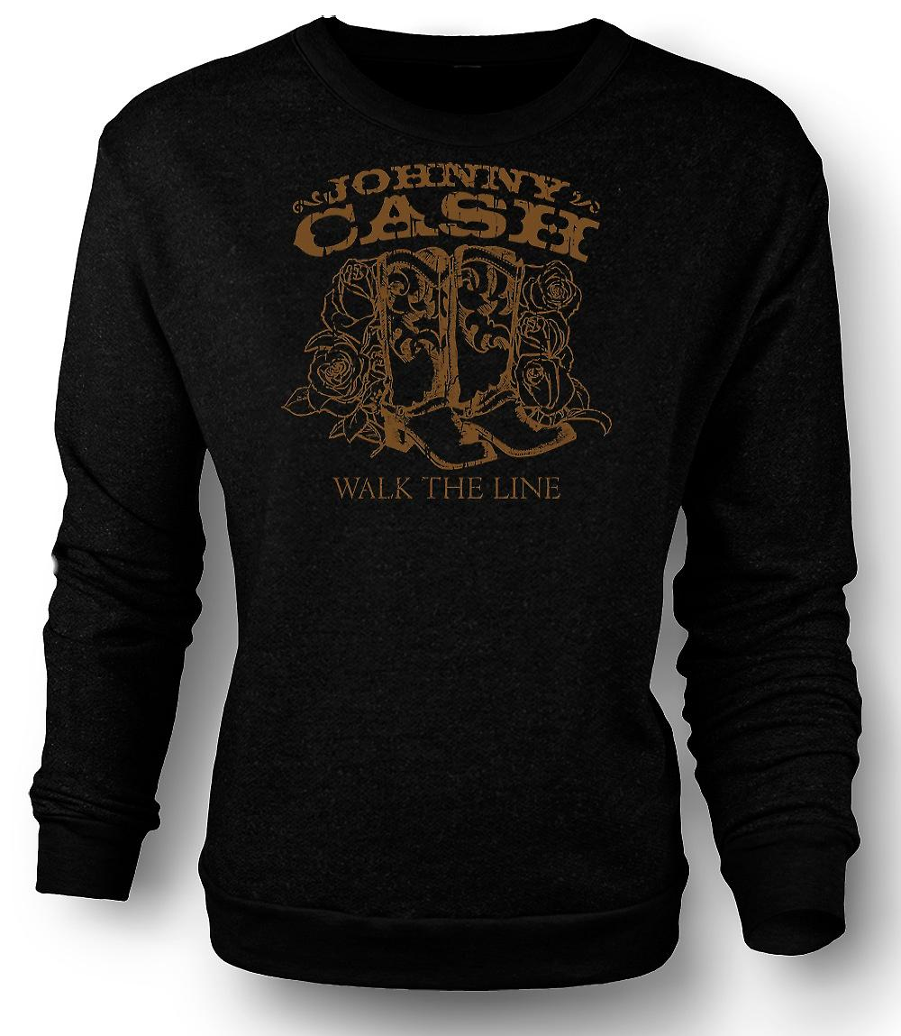 Mens Sweatshirt Johnny Cash - Walk The Line