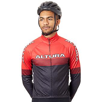 Altura Red-Black 2017 Sportive 97 Long Sleeved Cycling Jersey