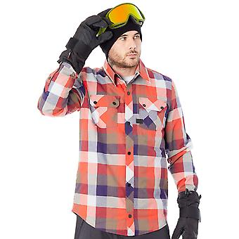 Volcom Fire Red Simons Insulated Flannel Long Sleeved Snowboarding Shirt