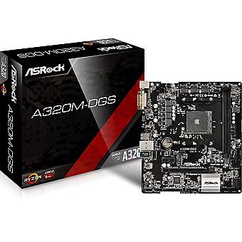 ASRock A320M-DGS AMD AM4 M.2 mATX SSD USB Desktop PC DVI Motherboard