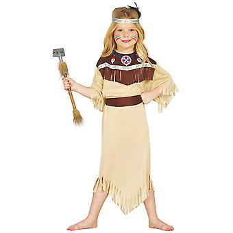 Costume de déguisements indien Cherokee amérindienne de filles