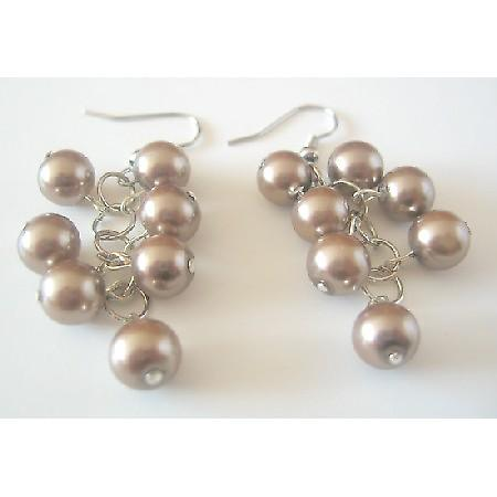 Stylish Earrings Under $5 Dollar Jewelry Bronze Brown Faux Pearls Gift