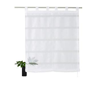 my home Roman shade transparent folding shutter with horizontal stripes white