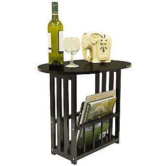 Haughton - Oberseite schwenkbar / Ende Tabelle mit Lagerregal - Eiche dunkel