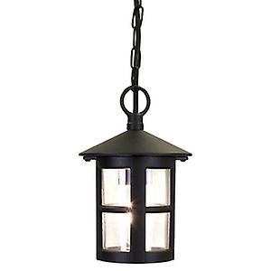 Elstead BL21A BLACK Hereford Traditional Large Tube Exterior Porch Ceiling Lantern