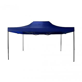 Rebecca Möbel Gazebo Telone Blaue Akkordeon-Metall-Polyester mit Gehäuse Camping Messen Ferien 4.5 X 4.5