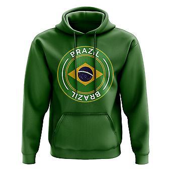 Brasilien Football Badge Hoodie (Grüne)