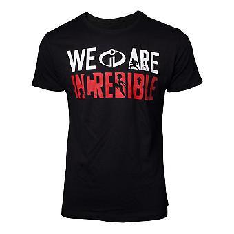 Incredibles 2 The T-Shirt We are Incredible Mens Black Medium (TS077214INC-M)