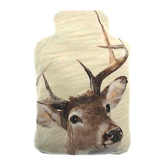 Plush Fleece Miniature Lavender Wheat Bottle: Stags Head