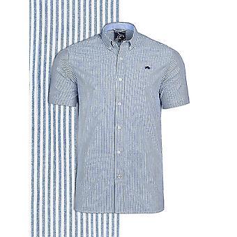 Short Sleeve Seersucker Shirt - Navy