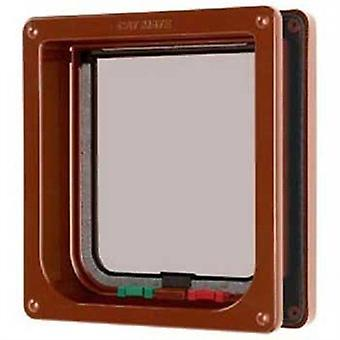 Cat Mate 4 Way Locking Cat Flap with Liner - Brown