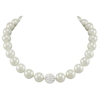 Eternal Collection La Perla White Shell Pearl Necklace