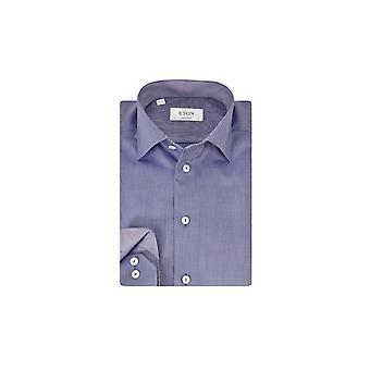 Eton Contemporary Fit Long Sleeve Shirt Blue