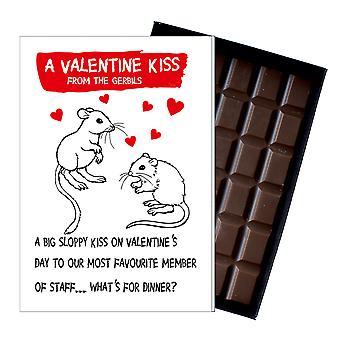 Valentine? s dag cadeau een geschenk uit de gerbils boxed chocolade wenskaart aanwezig ODV205