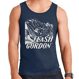 Flash Gordon Diving Sketch Men's Vest