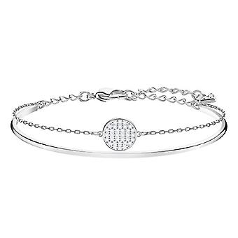 Swarovski Ginger Rigid Woman Bracelet - White - Rodio Plated