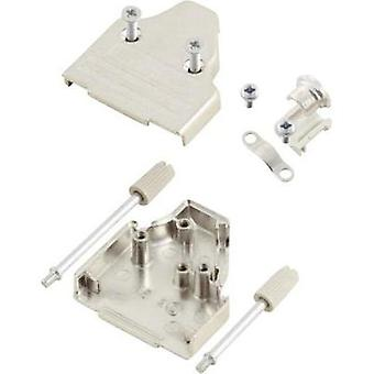 D-SUB housing Number of pins: 9 Metal 45 ° Silver MH Connectors MHDM35-9-K 1 pc(s)