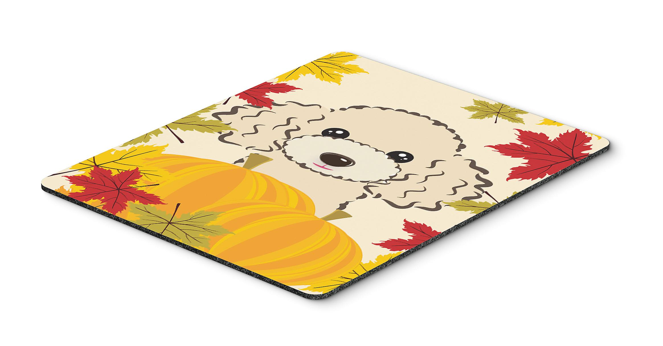 Buff Poodle Thanksgiving Mouse Pad, Hot Pad or Trivet BB2064MP