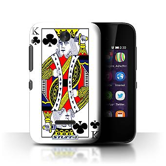 STUFF4 Case/Cover for Nokia Asha 230/King of Clubs/Playing Cards