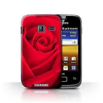 STUFF4 Case/Cover for Samsung Galaxy Y Duos/S6102/Red/Rose
