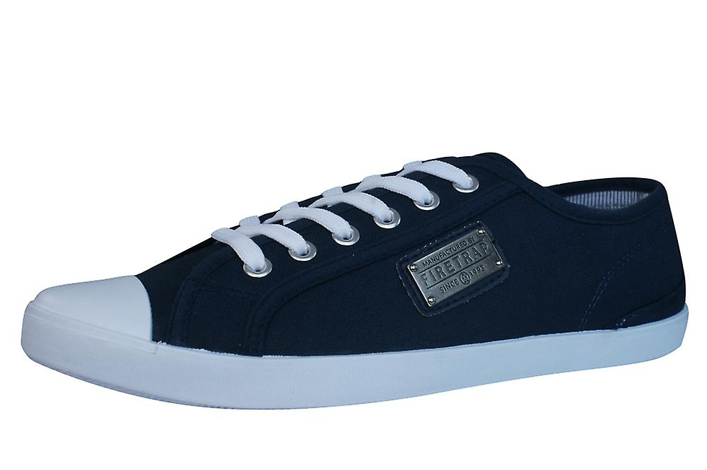 Firetrap Charlie Plate Mens Canvas Navy Trainers / Shoes - Navy Canvas fba22d