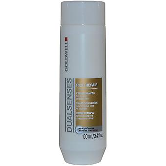 DualSenses by Goldwell Cream Shampoo Rich Repair 100ml for Dry and Stressed Hair