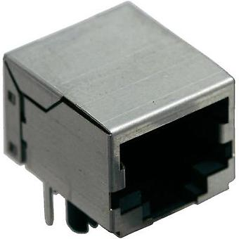BEL Stewart Connectors SS64100-014F SS64100-014F RJ45 Socket, horizontal mount Nickel-coated, Metal