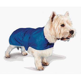 Vandtæt pels foret frakke blå 51cm