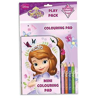 Disney Sofia The first Play Pack Colouring Pads Pencils Childrens Activity Set Girls Kids