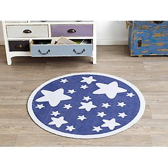 Velour kids rug Blue Star approximately 100 cm | 101944