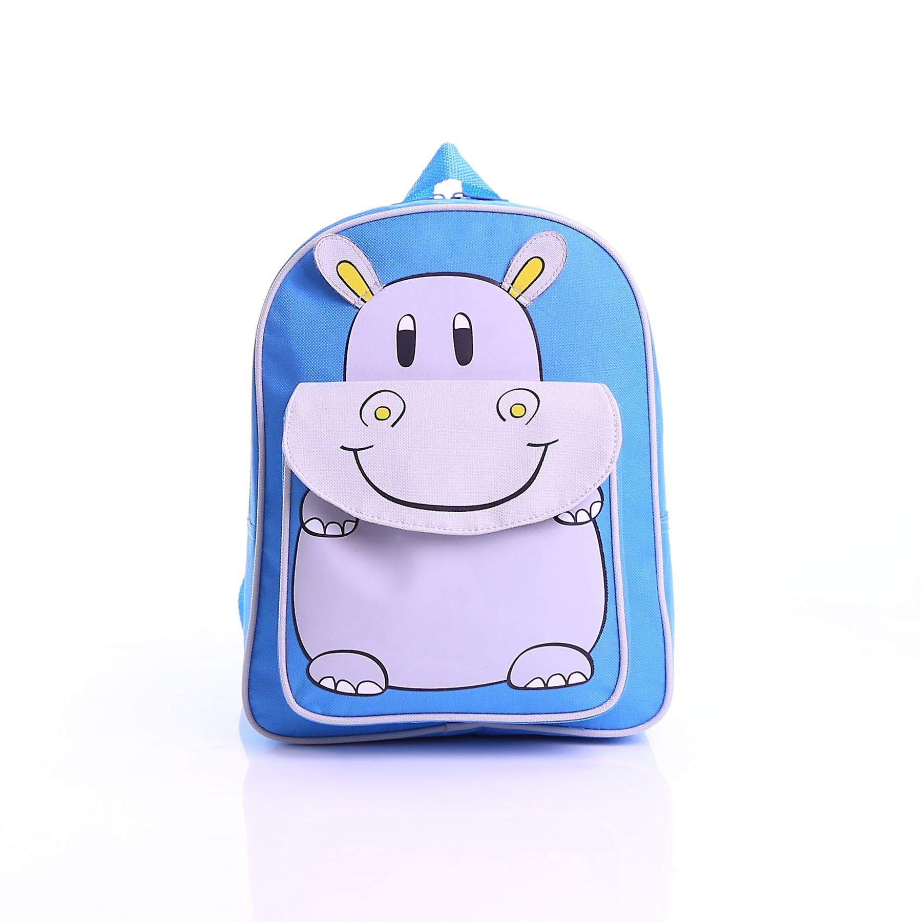 Karabar Wildlife Kids Hippo Backpack, Blue