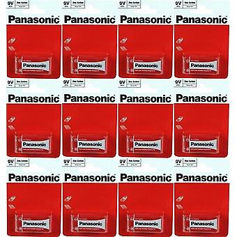 Panasonic 9 Volt Zinc carbon PP3 Battery - Pack of 12 (6F22R-1BP)