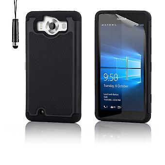 Shock proof case + stylus for Microsoft Lumia 950XL - Black