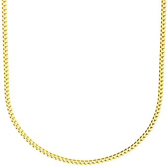 Sterling 925 Silver curb chain - CURB 2 mm gold