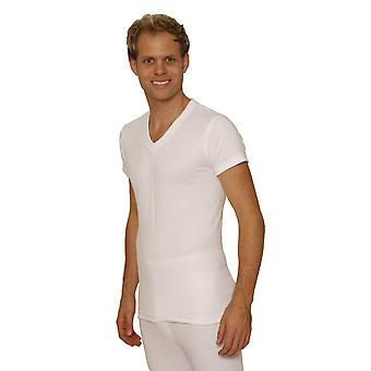 OCTAVE Mens Thermal Underwear Short Sleeve 'V'-Neck T-Shirt / Vest / Top