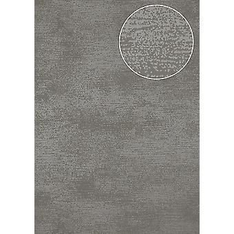 Tone on-tone wallpaper Atlas SIG-587-4 non-woven wallpaper smooth, shimmering with abstract pattern grey dust grey blue-eyed 5.33 m2
